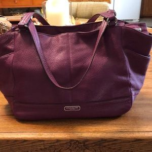Coach Fuchsia Leather Bag